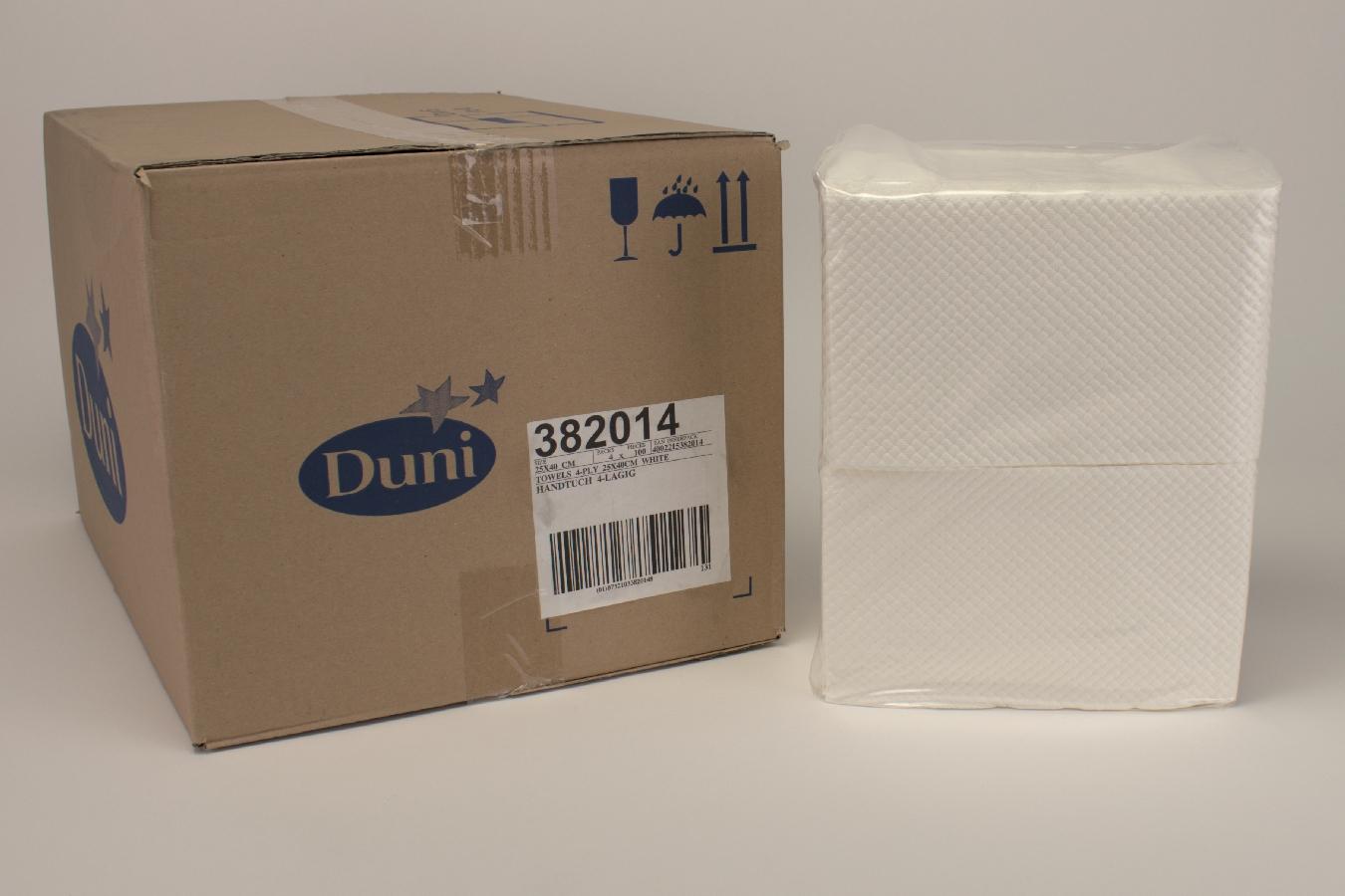 Duni Handtuch weiß 25x40 4lg 4x100 Stück