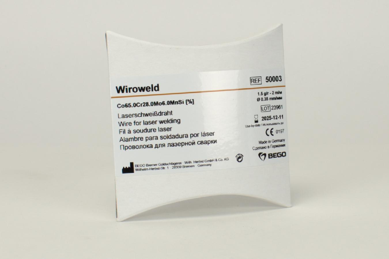 Wiroweld Draht 0,35mm 2,0Mtr Rl