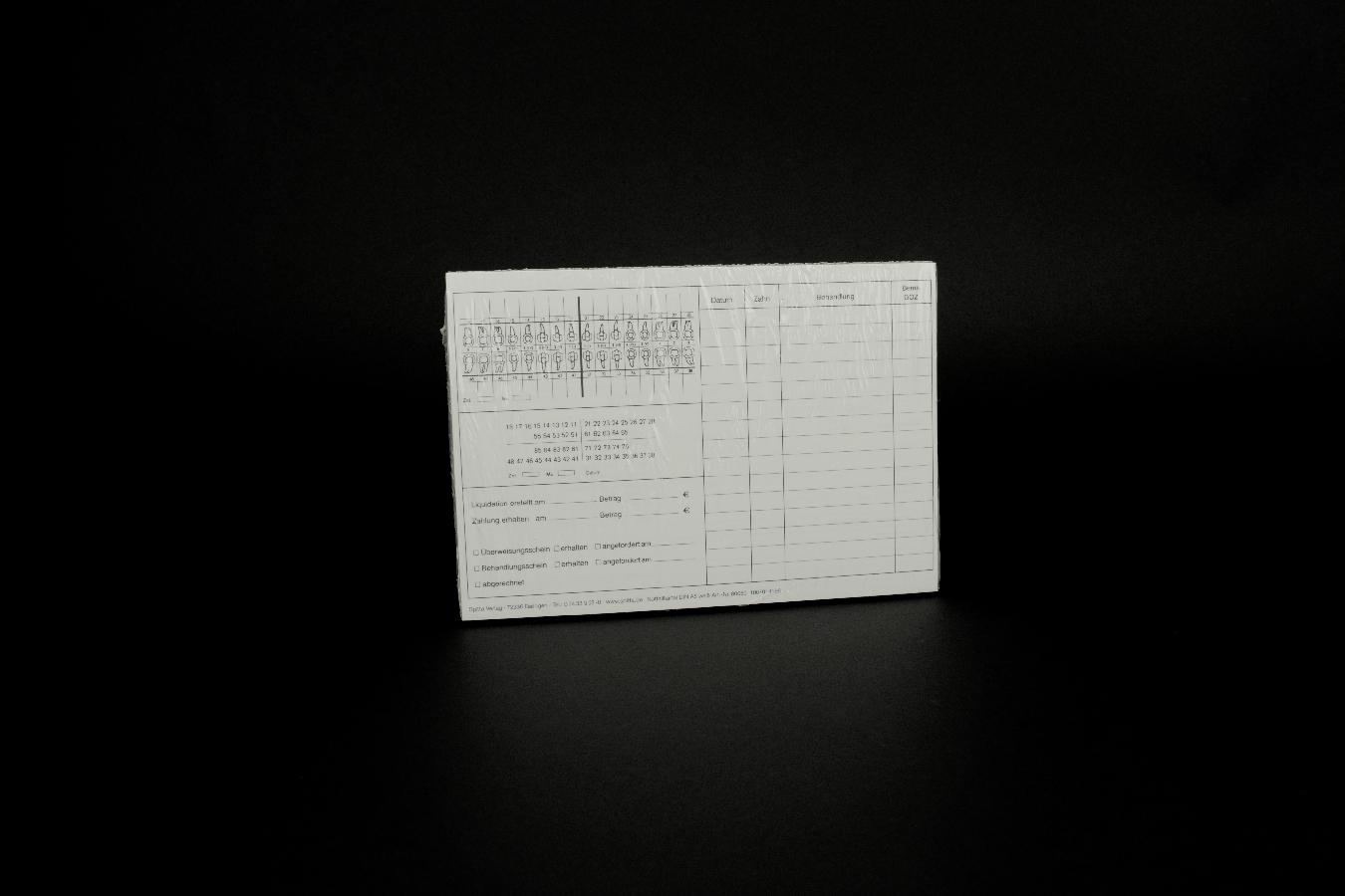 Notfallkartei A5 weiß 100 Stück