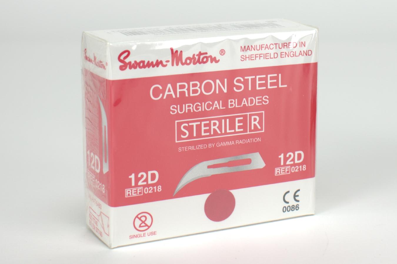 Skalpellklingen SM carbon 12D ster.100 Stück