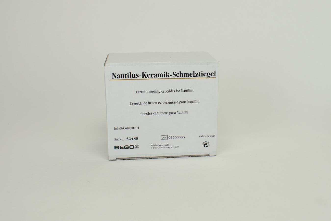 Keramiktiegel f. Nautilus 4St
