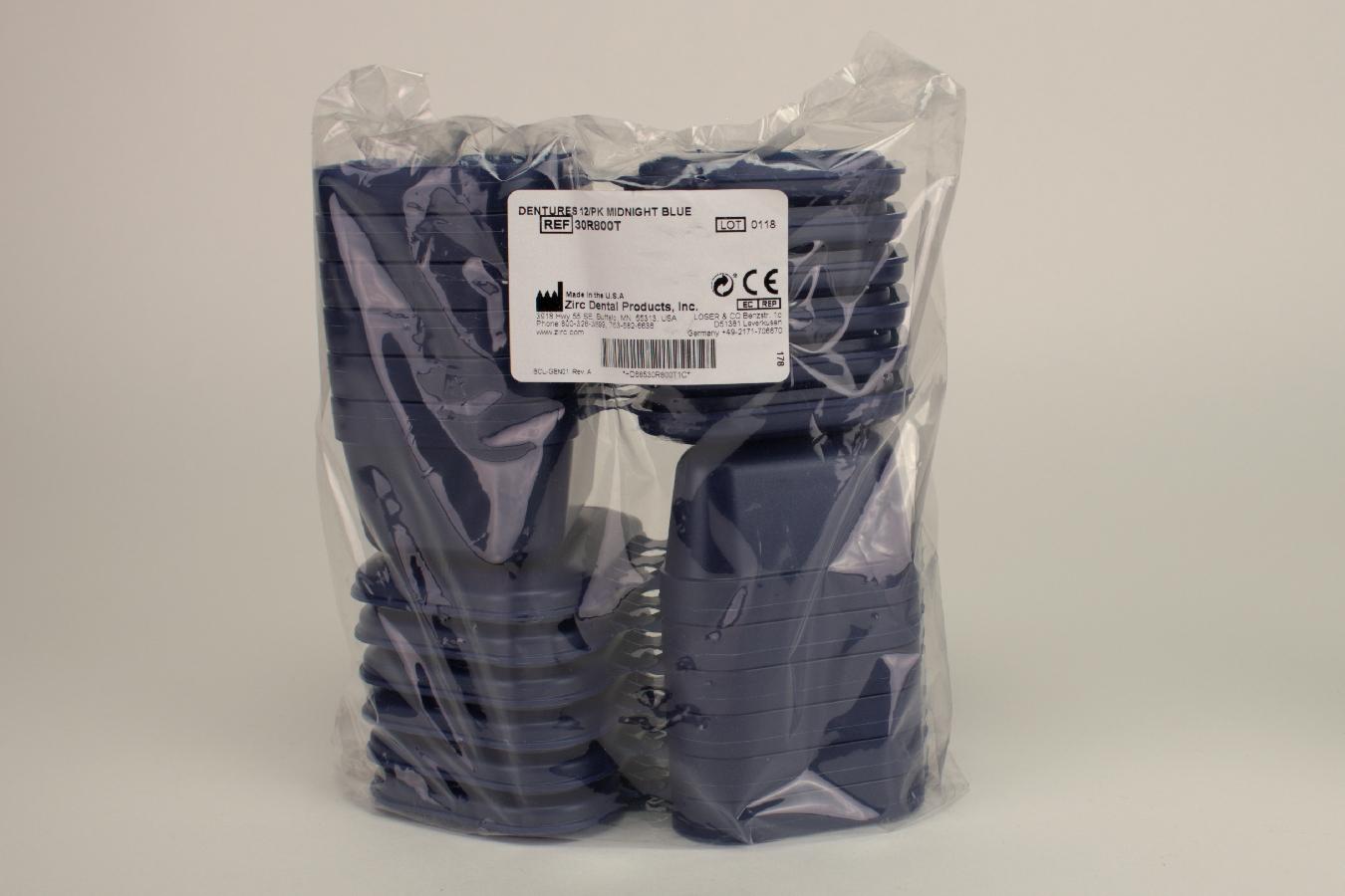 Prothesen-Box dunkelblau 12 Stück