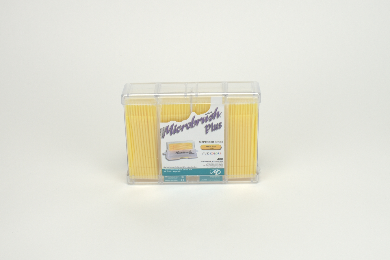 Microbrush plus fine gelb  400St