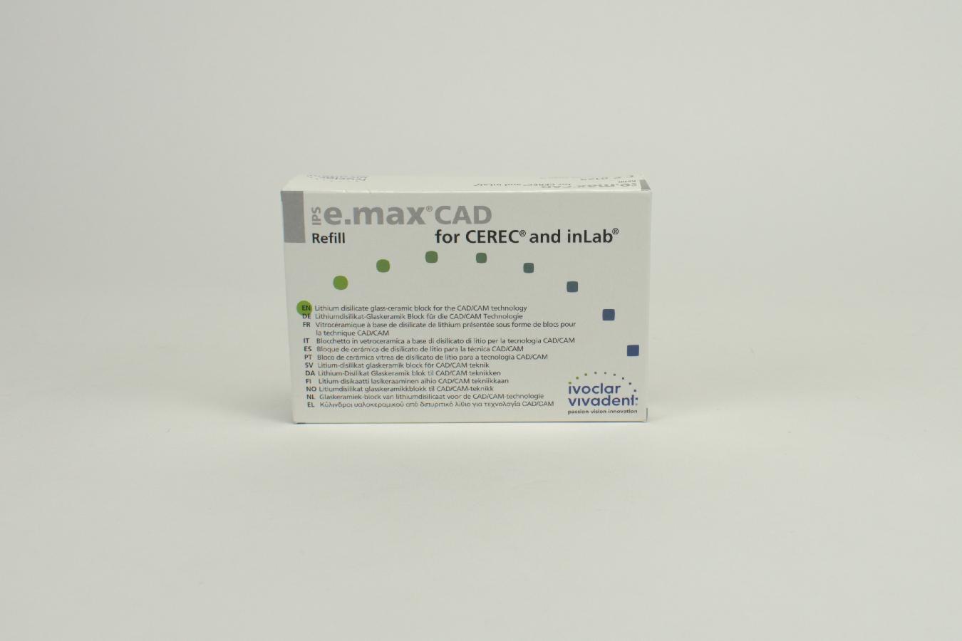 IPS e.max CAD Cer/inLab HT A2 C14 5 Stück