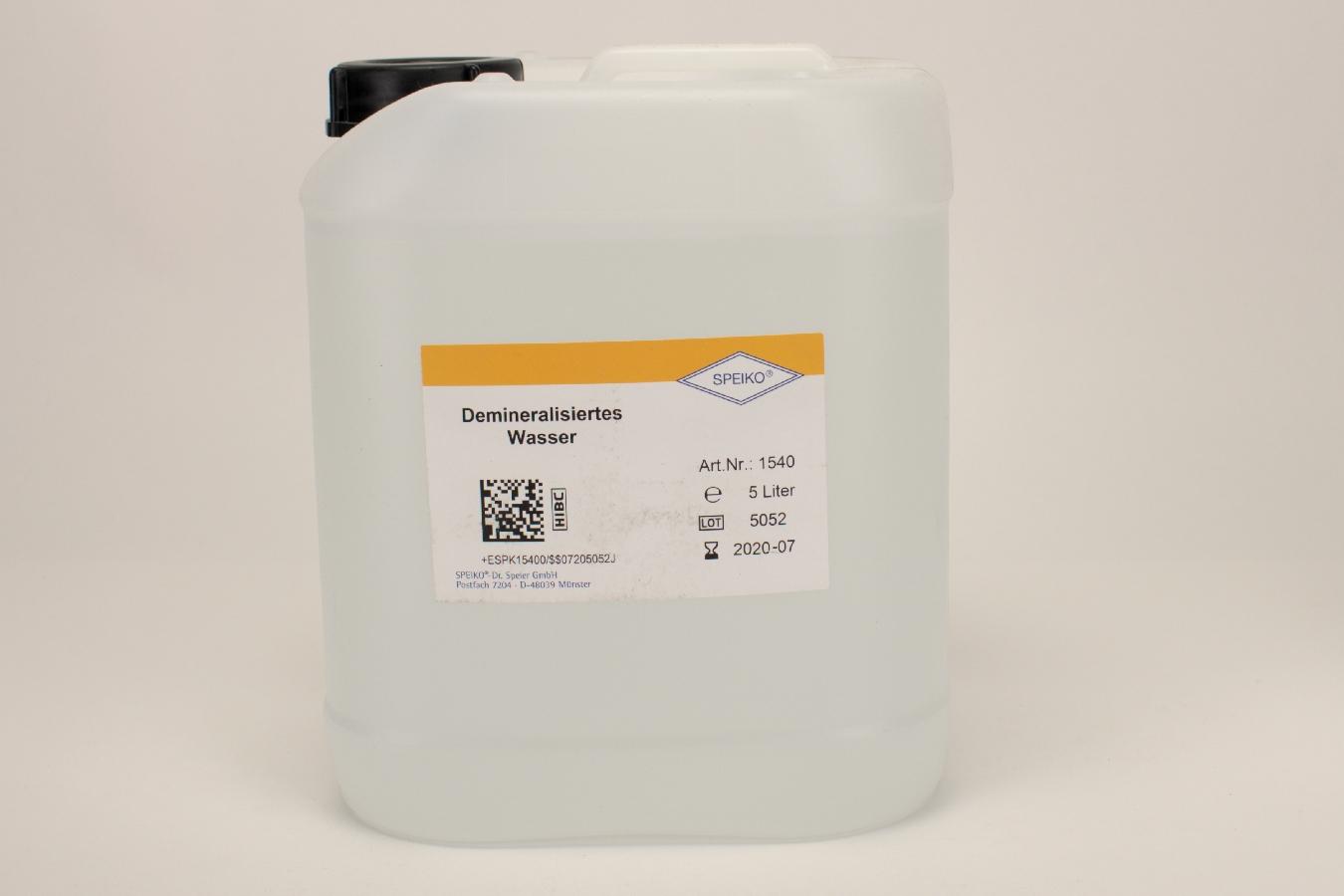 Demineralisiertes Wasser 5l Kan