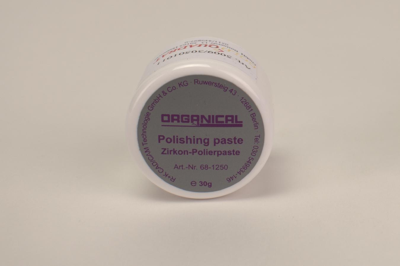Organical Zirkon Polierpaste 30g Dose für dental Praxen