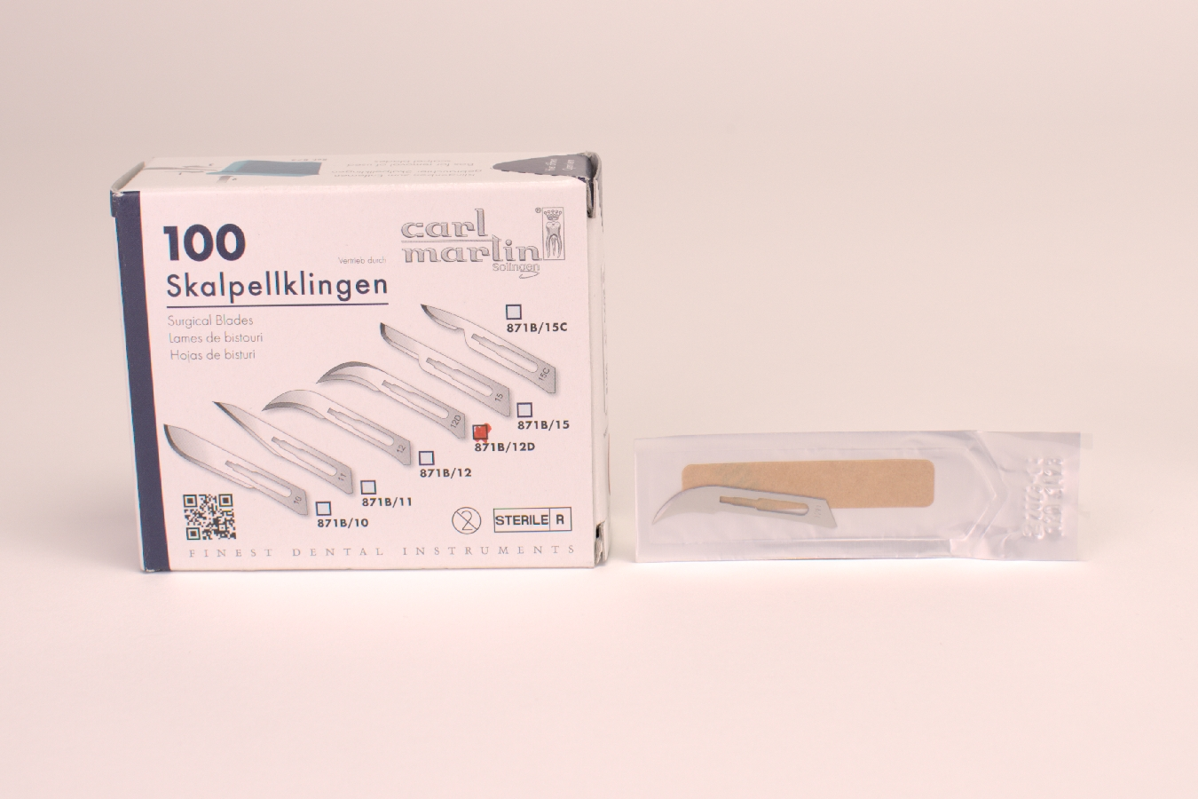 Skalpellklingen 871B/12D 100 Stück
