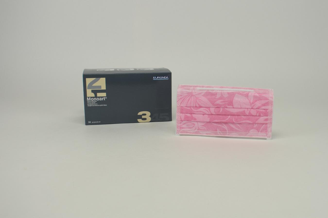 MONOART Mundsch. Gummi flower-rosa 50 Stück