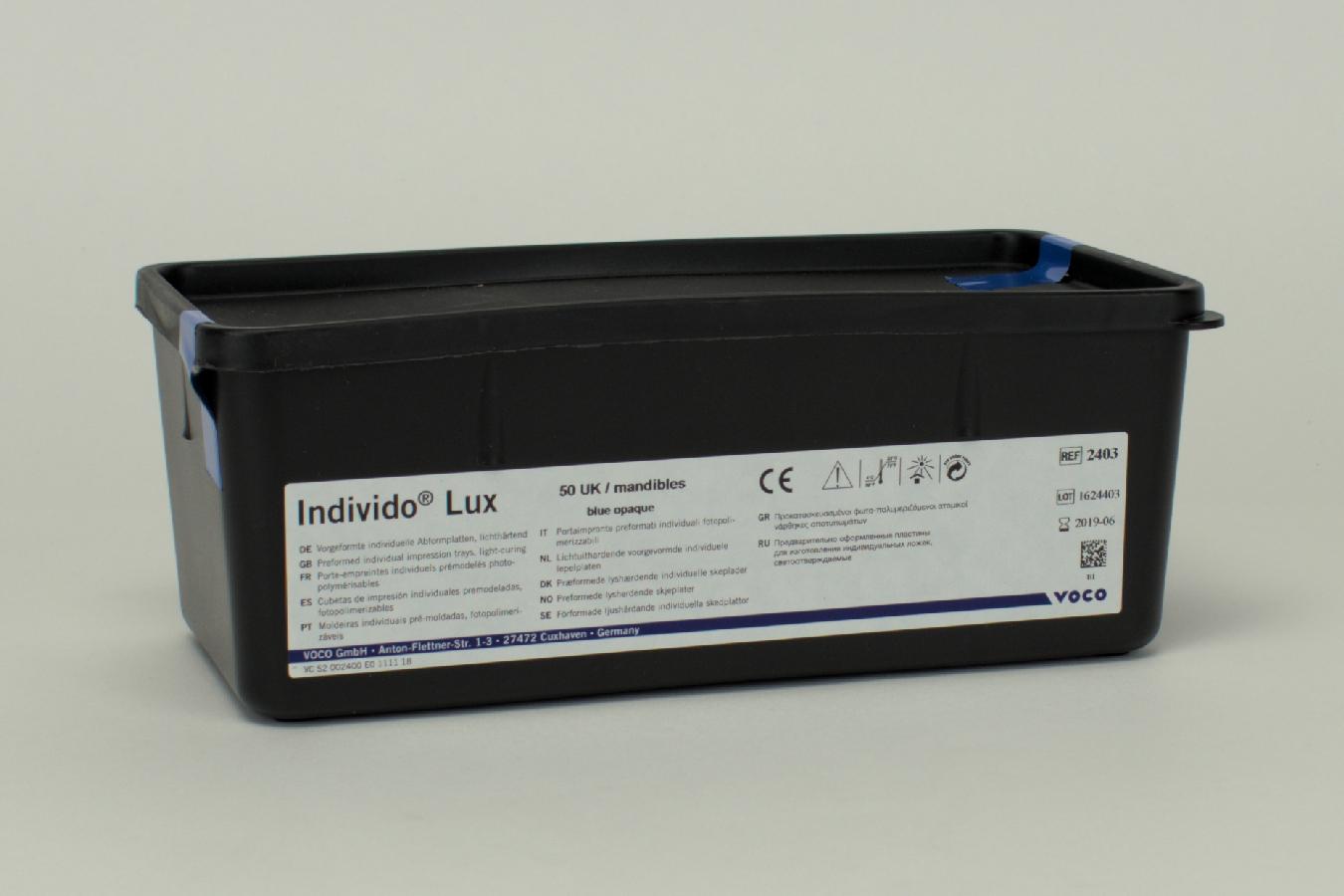 Individo Lux blau/opak UK 50 Stück