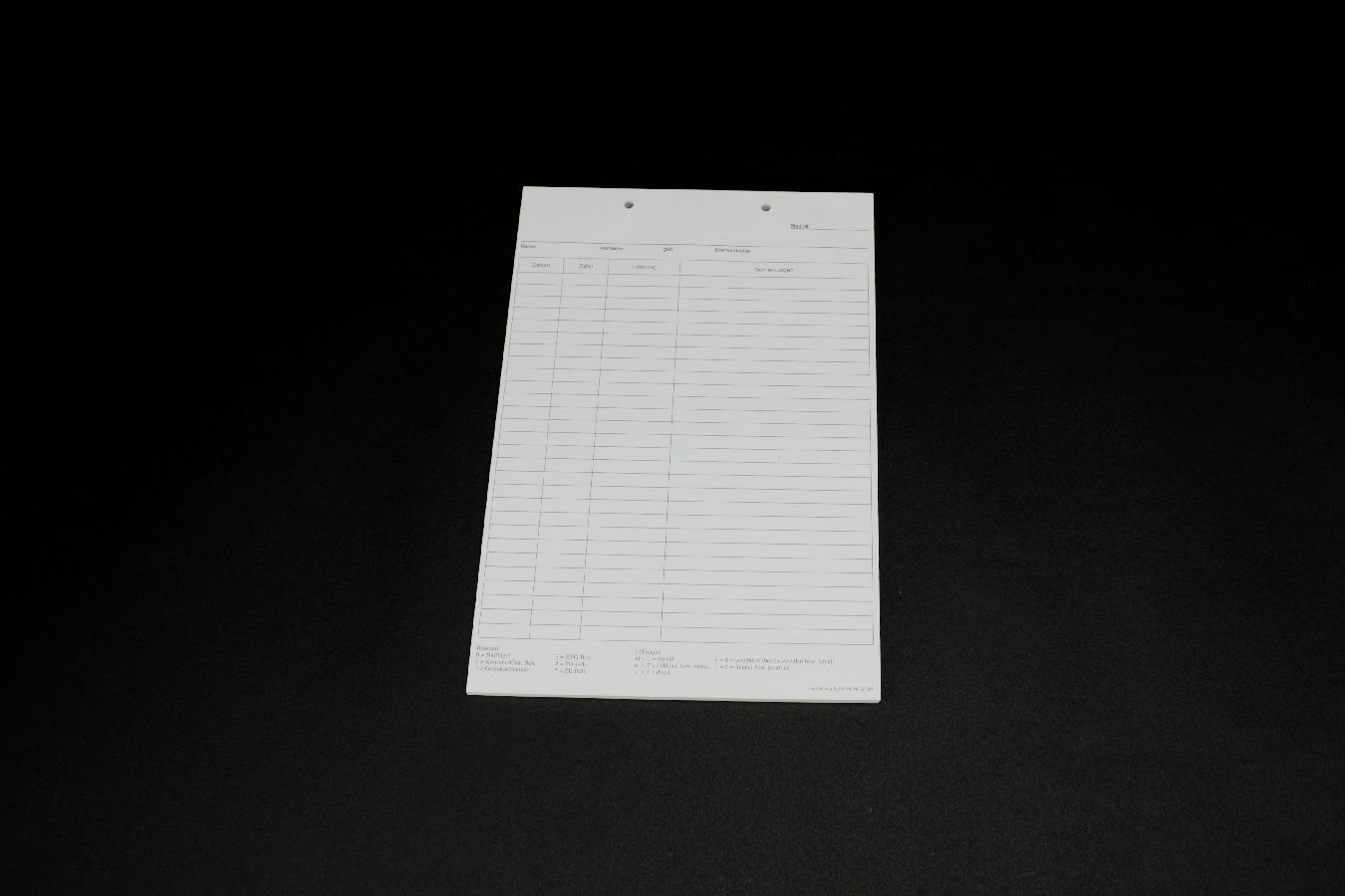 Krankenblatt N weiß kopfgel. 100 Stück