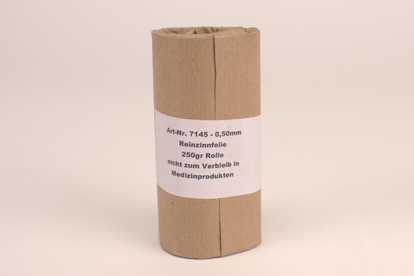Zinnfolie  0,50  250g  7145 Rl