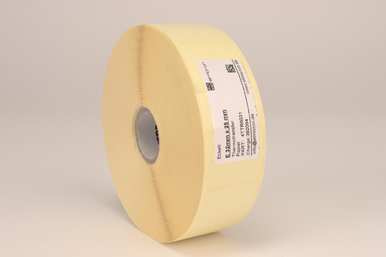 TTR-Etiketten 32x25mm f. ElmiPrint Rolle