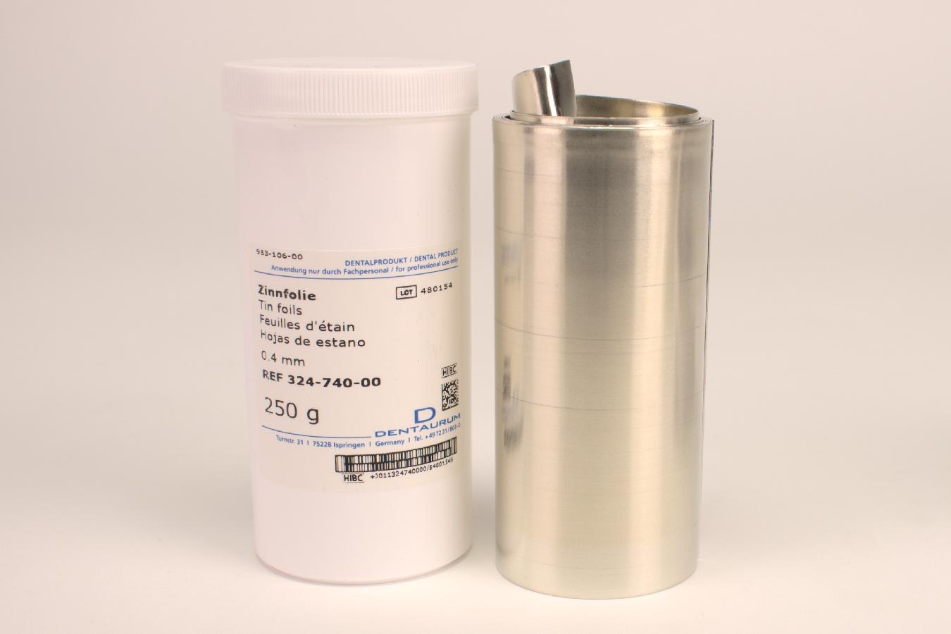 Zinnfolie 0,40mm 250G