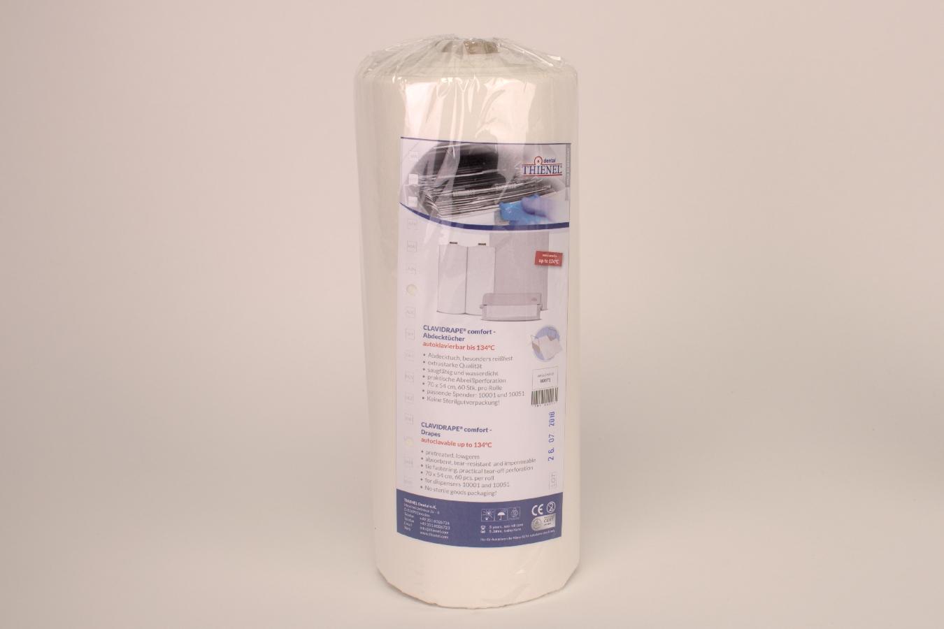 Abdecktuch Clavidrape weiß 70 x 60 60 Stück Rolle
