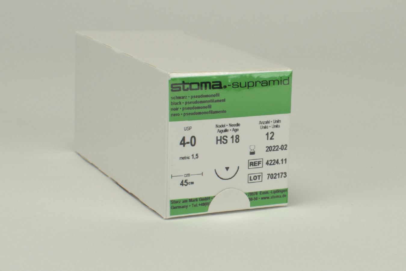 Supramid HS18 4/0 45cm Dtz