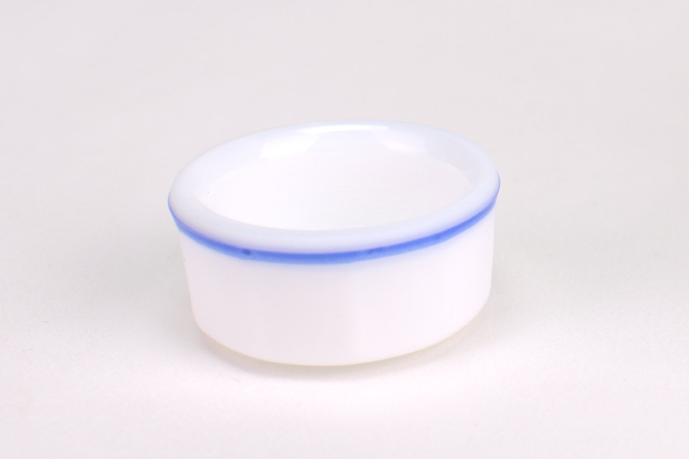 Kappenglasdeckel opal blau 698.25  St