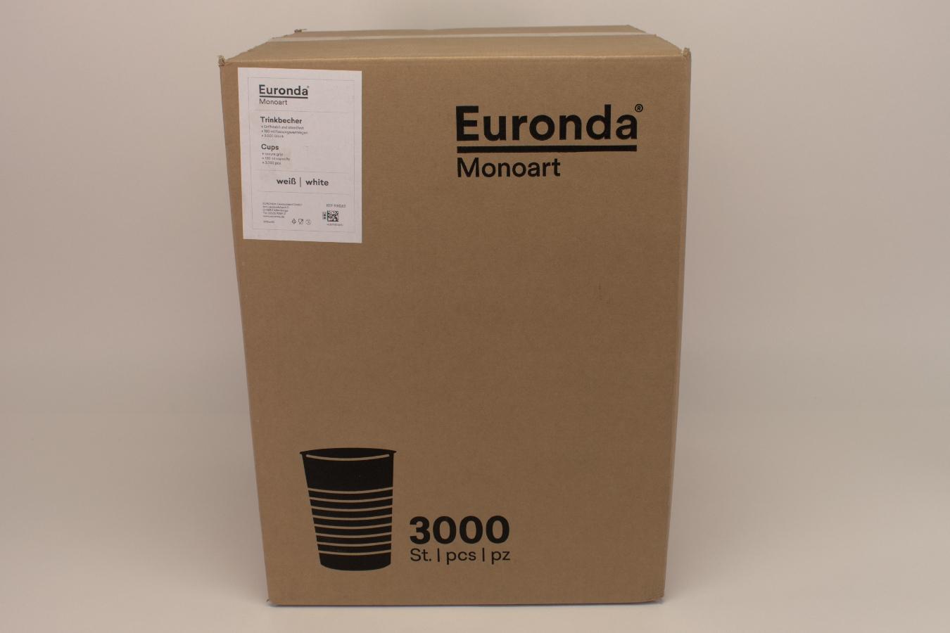 MONOART Trinkbecher weiß 180ml 3000 Stück