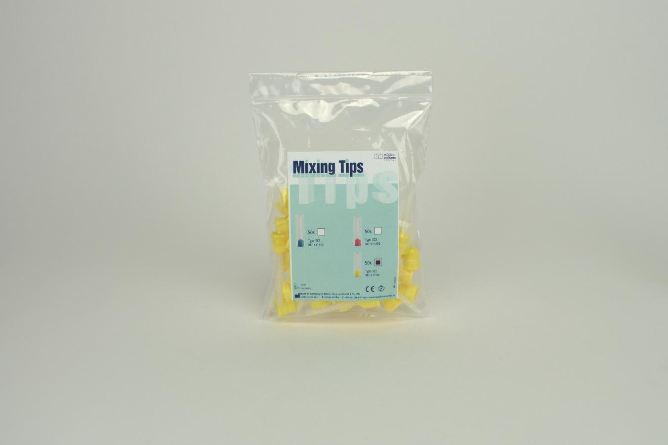 Mixing Tips Typ 1:1 SCS gelb 50 Stück