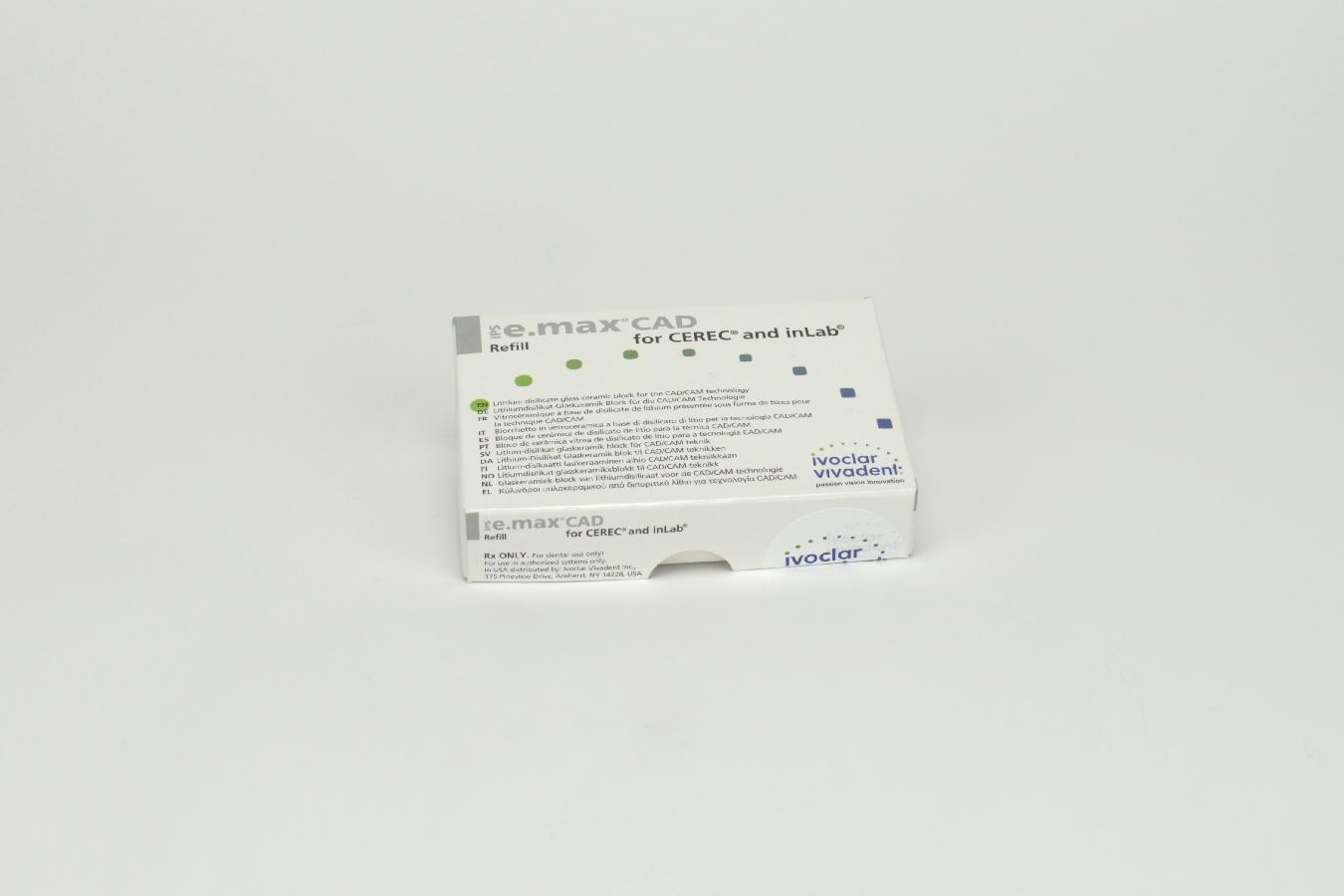 IPS e.max CAD Cer/inLab LT A2 C14 5 Stück