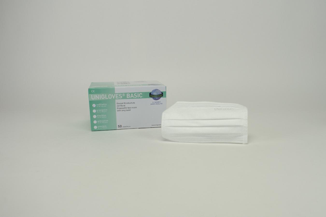 Mundschutz OP Basic weiß Band 50 Stück