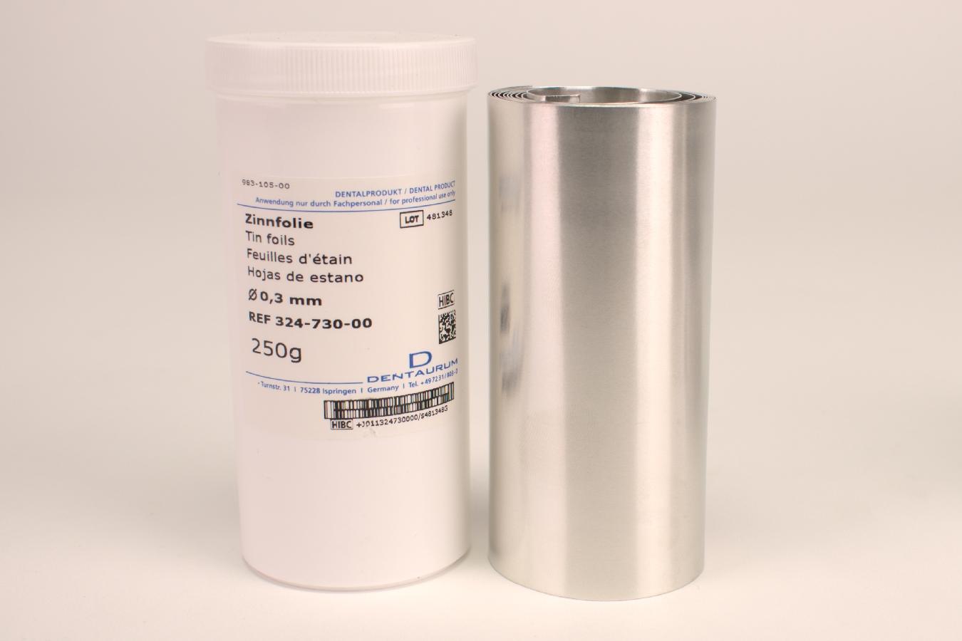 Zinnfolie 0,30mm 250G